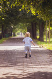 Little boy running Royalty Free Stock Images