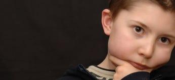 Little Boy sério Imagem de Stock