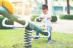 Little boy at playground. Stock Images