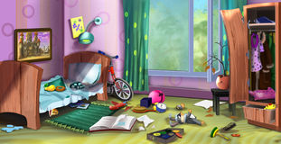 Little boy's room Royalty Free Stock Images