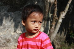 Little Boy Sad Stock Images
