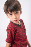Little boy with sadness face and eyes portrait Stock Photos