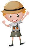 Little boy in safari costume Royalty Free Stock Photos