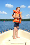 Little boy on a sailing trip Royalty Free Stock Photos