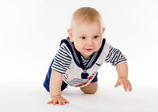 Little boy in a sailor suit Royalty Free Stock Photos