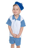 A little boy in a sailor suit stock photography