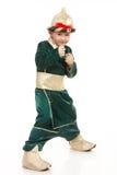 Little boy in samurai costume Stock Photo