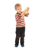 Little boy with sandwich Stock Image