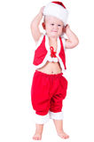 Little boy Santa Claus with Christmas gifts Royalty Free Stock Photos