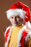 Little boy in Santa Claus suit Royalty Free Stock Photos