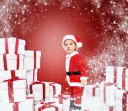 Little boy in Santa hat Royalty Free Stock Photo