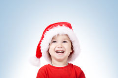 Little boy with Santa hat Royalty Free Stock Image