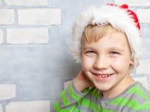 Little boy with Santa hat. Cute Little boy with a Santa hat Stock Photo