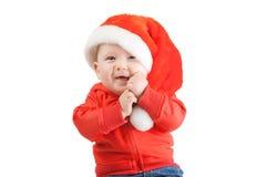 Little boy in santa hat. Cute little boy with santa hat portrait Royalty Free Stock Images