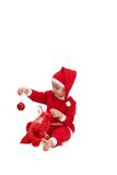 Little boy in santa wear Royalty Free Stock Image