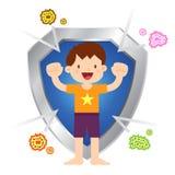 Little Boy saudável imune ao vírus e às bactérias Fotografia de Stock