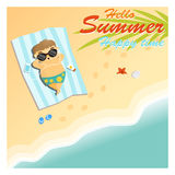 Little boy say hello to summer happy time Stock Photography