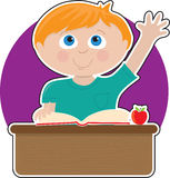 Little Boy at School Royalty Free Stock Image
