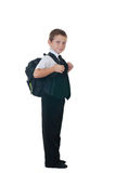 Little boy with a school backpack Royalty Free Stock Photos