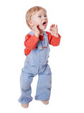 Little boy screaming Royalty Free Stock Photo