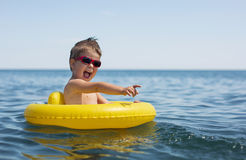 Little boy at the sea Royalty Free Stock Photography