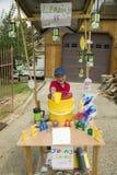 A little boy sells lemonade Royalty Free Stock Photos