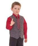 Little boy shakes his finger. Royalty Free Stock Photo