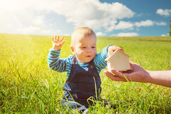 Little boy with shape of house Royalty Free Stock Image