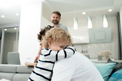 Little Boy Sharing Love with Mom royalty free stock photography