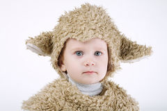 Little boy with sheep costume Royalty Free Stock Images
