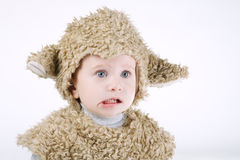 Little boy with sheep costume Royalty Free Stock Photography