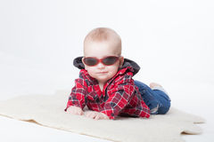Little boy in a shirt Royalty Free Stock Photo