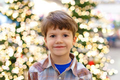 Little boy in shirt in mall Royalty Free Stock Images