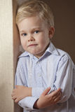 Little Boy in shirt posing Royalty Free Stock Photo