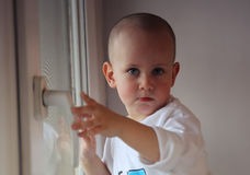 Little boy with short hair Royalty Free Stock Images