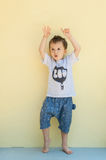Little boy in shorts Stock Images