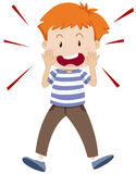 Little boy shouting alone stock illustration