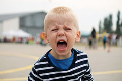 Little boy is shouting Stock Photo