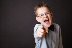 Little boy shouting Royalty Free Stock Images