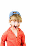 The little boy shouts Royalty Free Stock Photo