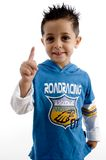 Little boy showing finger Stock Photography
