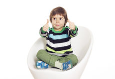 Little boy showing hand ok sign Royalty Free Stock Photography