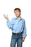 Little boy showing showing something Royalty Free Stock Photos