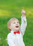Little boy showing thumb up Royalty Free Stock Image