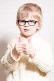 Little boy showing thumbs up Stock Images