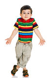 Little boy shrugging shoulders Stock Photos