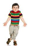 Little boy shrugging shoulders stock photos