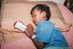 Little boy sick in the Hospital Royalty Free Stock Image