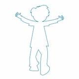 Little boy silhouette Stock Image
