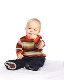 Little Boy Sitting Royalty Free Stock Photography